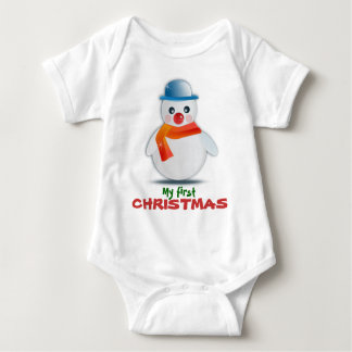 Baby First Christmas Snowman Creeper