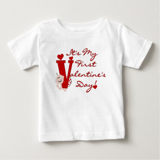 Baby First Valentine's Day Baby T-Shirt