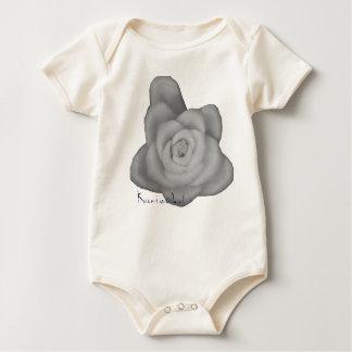 Baby flower unisex boy girl green leaf photo cute baby bodysuit
