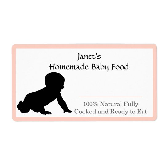 Baby Food Jar label