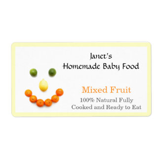 Baby Food Jar label Shipping Label