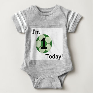 Baby Football 1st Birthday Bodysuit