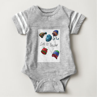 Baby Football Bodysuit, Let it Snow Baby Bodysuit