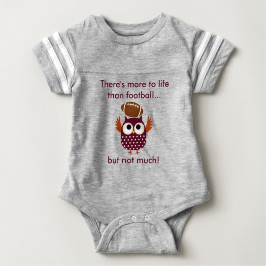 Baby Football Bodysuit with Football Playing Owl