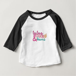 Baby Football Shirt, Tutus and Touchdowns Baby T-Shirt