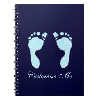 Baby Footprints (Boy) Notebook