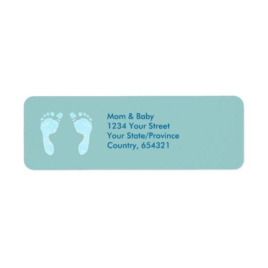 Baby Footprints (Boy) Return Address Label