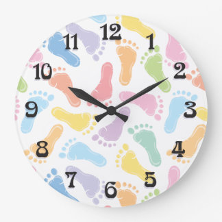 Baby Footprints Gender Neutral Wall Clock