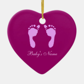 Baby Footprints (Girl) (Doorhanger) Ceramic Ornament