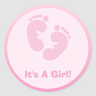 Baby Footprints Stickers