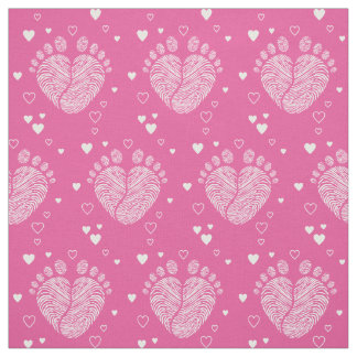 Baby footsteps fabric