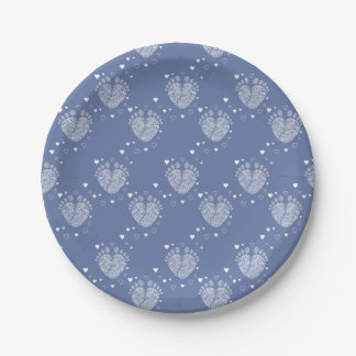 Baby footsteps paper plate