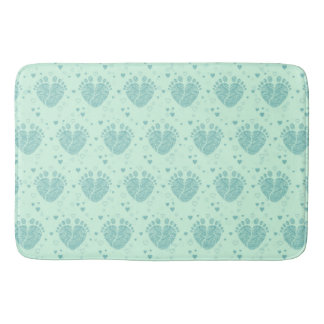 Baby footsteps pattern bath mat