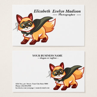 baby fox 765 business card