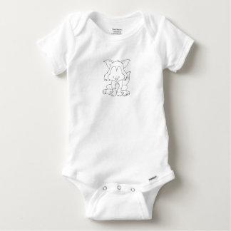 Baby Fox - Color it yourself - baby bodysuit