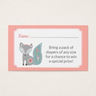 Baby Fox Diaper Raffle Tickets