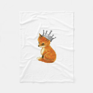 Baby Fox Vintage Crown Fleece Blanket