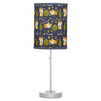 Baby Fox Woodland Pattern Lamp - Boy