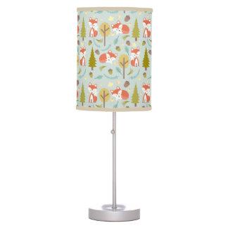 Baby Fox Woodland Pattern Lamp - Girl