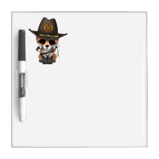 Baby Fox Zombie Hunter Dry Erase Board