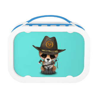 Baby Fox Zombie Hunter Lunch Box