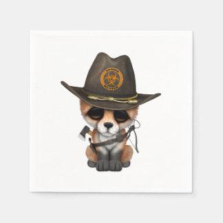 Baby Fox Zombie Hunter Paper Napkin