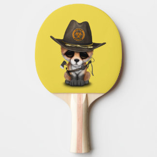 Baby Fox Zombie Hunter Ping Pong Paddle