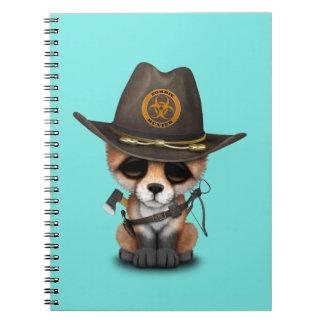Baby Fox Zombie Hunter Spiral Notebook