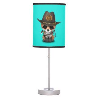 Baby Fox Zombie Hunter Table Lamp