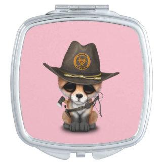 Baby Fox Zombie Hunter Travel Mirror