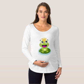 Baby Frog King Maternity T-Shirt - It's a Boy!!