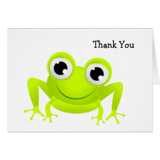 Baby Frog Thank You Card