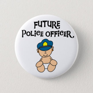 Baby Future Police Officer 2 Inch Round Button