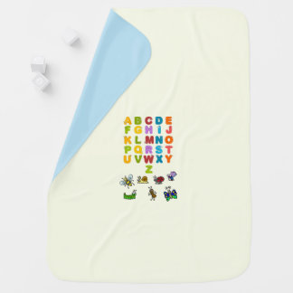 Baby Garden animals and Alphabets Baby Blanket