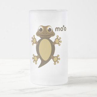 Baby Gecko Frosted Glass Mug