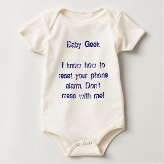 Baby Geek Onesy Smart Kids Fun Funny Babies Baby Bodysuit
