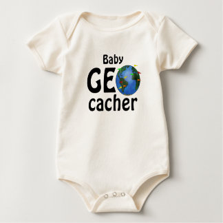 Baby Geocacher Earth Geocaching Custom Infant Baby Bodysuit