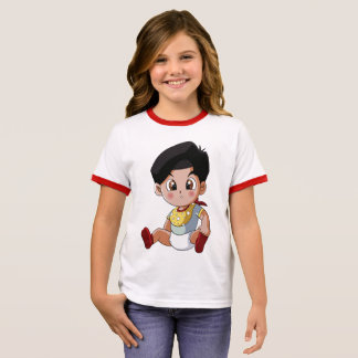 Baby Ghenny - Cute Girl Ringer T-Shirt