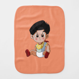 Baby Ghenny Orange Burp Cloth