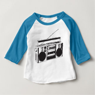 baby Ghetto Blaster Boom box Baseball Baby T-Shirt
