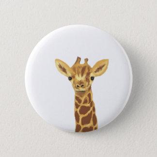 baby giraffe 2 inch round button