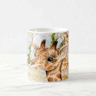 Baby Giraffe Africa Savanna Animals brown gold Coffee Mug