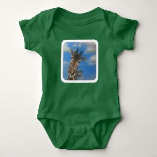 Baby giraffe and ostrich baby bodysuit