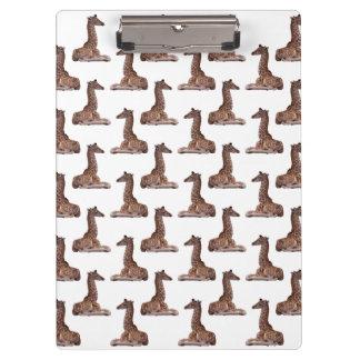 Baby Giraffe Clipboard (choose colour)