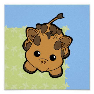 Baby Giraffe Cutie Poster