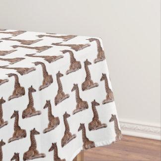 Baby Giraffe Frenzy Tablecloth (choose colour)