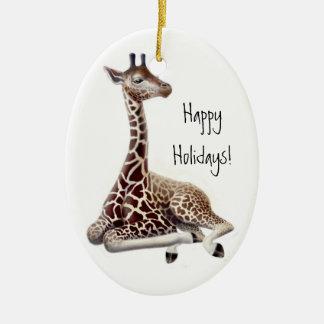 Baby Giraffe Holiday Ornament