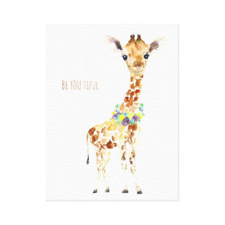Baby Giraffe is Be YOU ti ful! Canvas Print