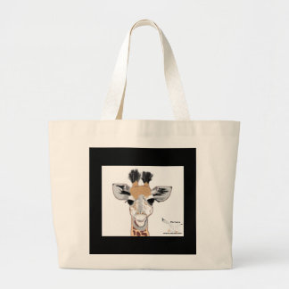 Baby Giraffe Large Tote Bag