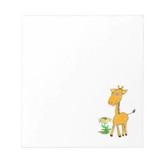 Baby Giraffe note pad